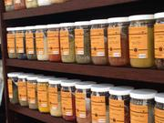 Customers can choose from a variety of spices, including smaller individual portions.