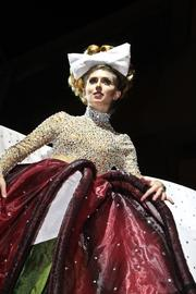 This gown was revealed as the flower petals unfolded during the Costume Couture Fashion Showdown.