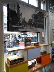 The Sundance Square store also features vintage photos of Fort Worth.
