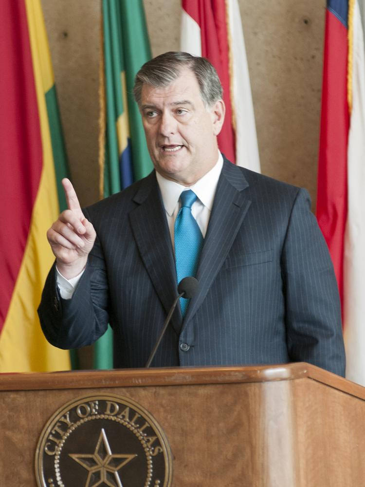 Dallas Mayor Mike Rawlings said the Trinity, Fair Park and high-speed rail need to be on the front burner in 2017.