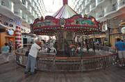 The carousel in the Boardwalk area.