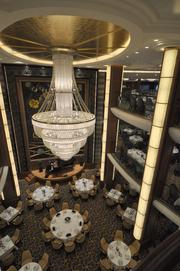 The Opus main dining room has three levels.