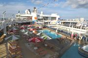 The pool deck area of Oasis.