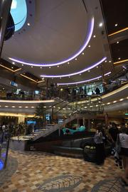 The Royal Promenade is like an indoor mall.
