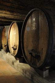 Sobon Estate wine barrels.