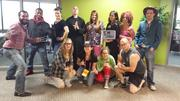 The staff of Validity Screening Solutions gets into the Halloween spirit. The Overland Park company offers background screening services, including background checks, drug testing and personality assessments.