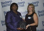 2013 Health Care Hero recipient Shirley Harrison, RN of Naval Hospital Jacksonville and Dr. Dawn Emerick of the Health Planning Council.