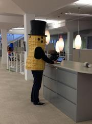 Mr. Peanut gets down to business at Barkley.