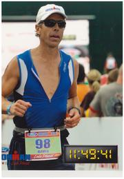 David McDaniel said he excels in the running portion of a triathlon.