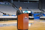 Orlando Magic CEO Alex Martins speaks to season ticket holders at the press conference on Nov. 1.