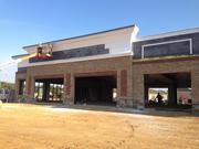 Here's one of the retail buildings under construction at Sun Valley.