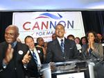 Mayoral election 2013  Patrick Cannon supporters wait for results then celebrate at The Sheraton.