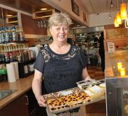 Nancy DiIanni, owner of Peaches Cafe in Stuyvesant Plaza in Guilderland, NY.