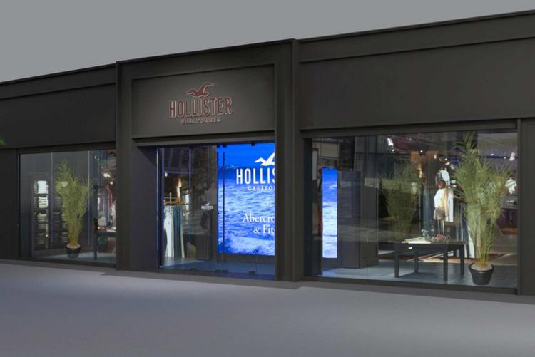 Hollister Stores To Get Windows In Market Test By