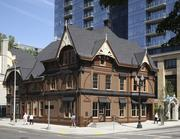The Ladd Carriage House. The Portland landmark was constructed in 1883 and more recently was moved from its original location to make way for construction of the Ladd apartment tower. It was rehabilitated and repurposed as the Raven & Rose Restaurant in 2012. The property includes office and retail space as well.