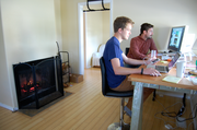 """Incomparable Things CTO Nick Park (left) was one of the original three roommates in the house. Lead Designer Stefaan duPont recently moved from New York City to the Northeast Portland house that the team lovingly refers to as the """"Startup Ghetto."""""""
