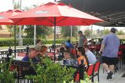 The outdoor patio was a nice touch in the breezy November weather.