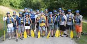 Intrust IT employees try a little whitewater rafting.