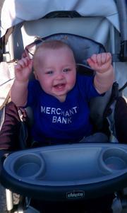 One of Merchants Bank & Trust's youngest customers.