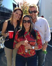 Employees at Rainmaker Resources LLC take a trip to watch the horses run at Keeneland.