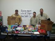 CenterPoint Energy employees at a Support Our Troops event last year.