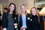 Ryan Smith of Medasource, left to right, Brittany Burgess and Kara Seat, both of BrookSource