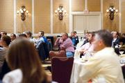Recruiters and tech company executives filled in to listen.