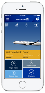 United Airlines introduces new iPhone app