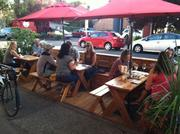 Street seating at The Portland Bottle Shop 7960 S.E. 13th Ave.