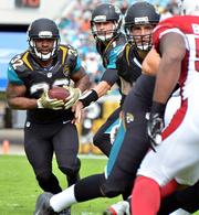 Jacksonville Jaguars running back Maurice Jones-Drew runs through the field during the game against the Arizona Cardinals.