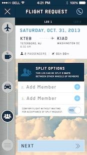 Wheels Up plans to launch a mobile app in December that will allow members to reserve flights and split flights with other members traveling to the same destination, defraying costs.