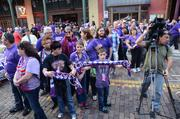 Orlando City Soccer last month announced it will become an MLS team in 2015. Shown: Soccer fans gather near Church Street's Cheyenne Saloon for the Orlando City Soccer festivities.