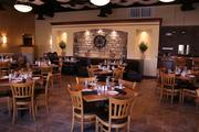 The main dining area at Remezo Greek Cuisine. The restaurant has seating for about 230 guests.