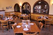 A side room dining area at Remezo Greek Cuisine.