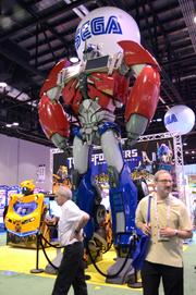 Hey, guys? Optimus Prime is right behind you. Guys? Never mind.