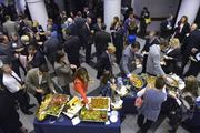 Attendees enjoyed hors d'oeuvres before the 40 Under 40 awards ceremony.