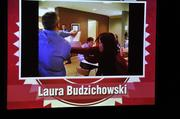 Laura Budzichowski demonstrated her black belt skills in her video.