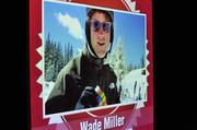 Wade Miller showed a video of himself solving a Rubiks Cube while skiing.
