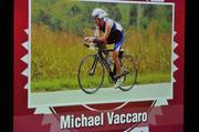 Michael Vaccaro's video showed him participating in endurance sports such as running and bicycling.
