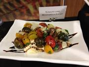 Another healthy option is Aramark's tomato and mozzarella salad.