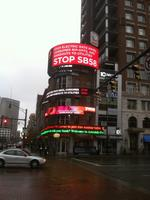Sierra Club ups ante against Senate Bill 58 with electronic billboard at Broad and High