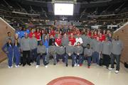 The entire Bobcats team of players, coaches and front-office employees participated in the event, along with volunteers from Wells Fargo and Food Lion.