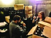 Rassul Zarinfar of Buffalo Bayou Brewing Co. demonstrates how to drink beer like a pro.