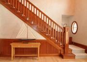The front entrance staircase.