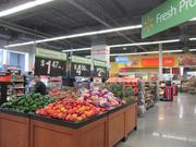 More than a third of the store is devoted to grocery, including fresh produce, meat and dairy.