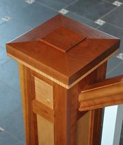A detail from the newel post in the mudroom.