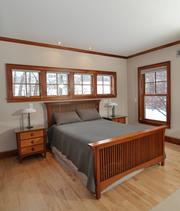 The first floor master bedroom.