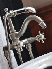 Kohler Iron Works faucet detail in the master bath.