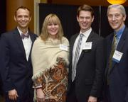 (From left) Dr. Christopher Scorzelli of Kablooe Design, Jane Metzger of Metzger Building Materials, MSPBJ account executive Noah Ewing and Steve Behrns of Boulay Group