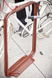 Yerba Buena's cast iron bike racks.